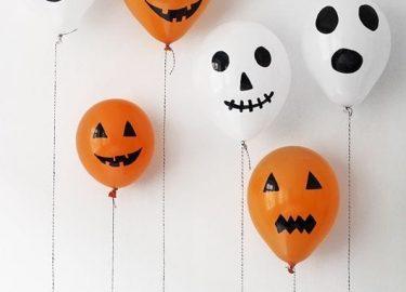 Balões Abóboras e Fantasmas