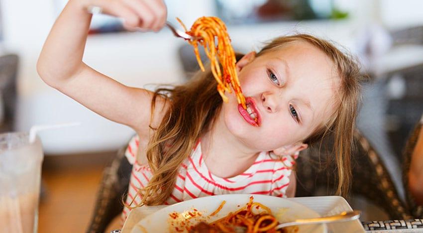 comida de verdade no menu kids